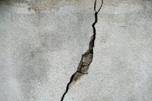 crack, wall, concrete