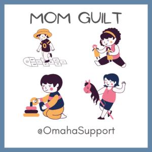 mom guilt children playing