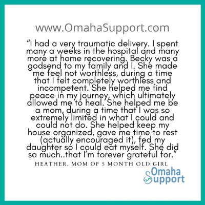 Omaha Doula client Review 4